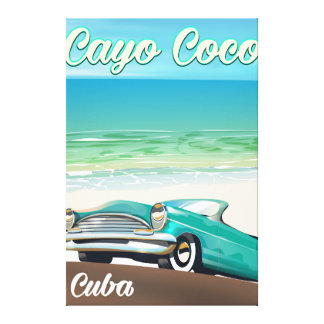 Cayo Coco cuban vacation poster Canvas Print