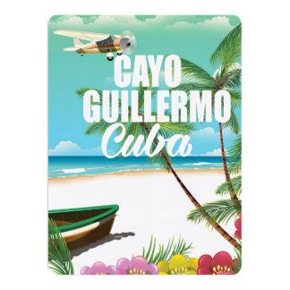 Cayo Guillermo beach vacation poster 17 Cm X 22 Cm Invitation Card