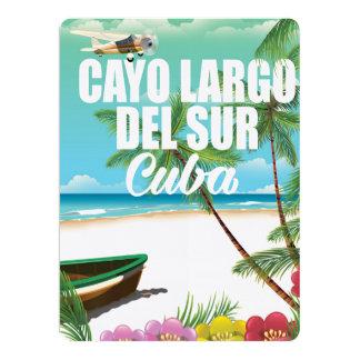 Cayo Largo del Sur beach vacation poster 17 Cm X 22 Cm Invitation Card