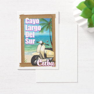 Cayo Largo del Sur cuban vacation poster Business Card