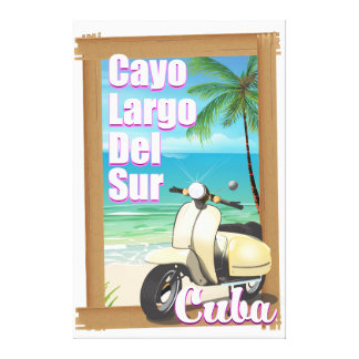Cayo Largo del Sur cuban vacation poster Canvas Print