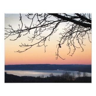 Cayuga Lake at Sunset Photo Print
