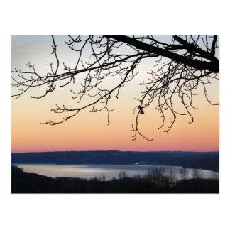 Cayuga Lake at Sunset Postcard