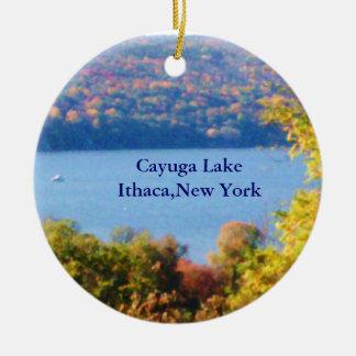 CAYUGA LAKE, ITHACA, N.Y. ornament
