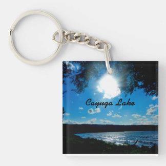 CAYUGA LAKE, NIGHT FALLS keychain
