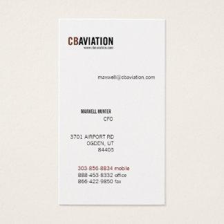 CB Aviation Business Card
