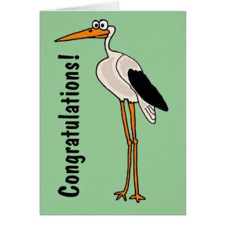 CB- Funny Stork Cartoon Greeting Card