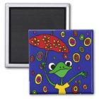 CB- Glorious Frog Dancing in the Rain Magnet