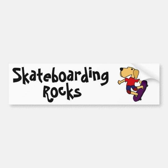 CB- Labrador Retriever Dog Skateboarding Bumper Sticker