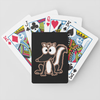 CB- Silly Skunk Cartoon Bicycle Playing Cards