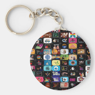 CBC Historic Graphics and Logos Basic Round Button Key Ring