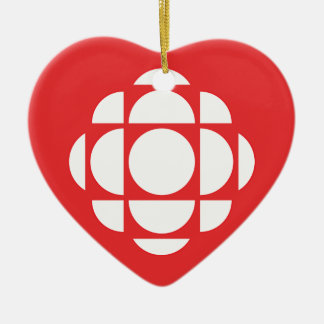 CBC/Radio-Canada Gem Ceramic Heart Decoration