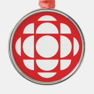 CBC/Radio-Canada Gem Silver-Colored Round Decoration