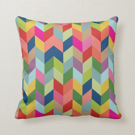 CBendel Colourful Modern Herringbone Throw Pillow