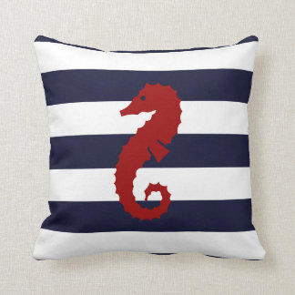 CBendel Nautical Blue Stripe Seahorse Whale Pillow