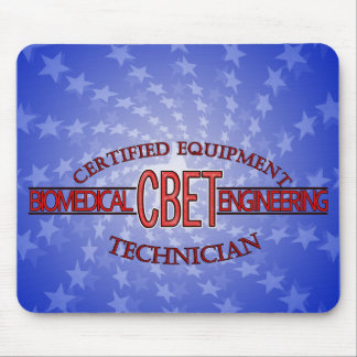 CBET BIOMEDICAL ENGINEERING LOGO  EQUIPMENT TECH MOUSE PAD