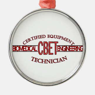 CBET BIOMEDICAL ENGINEERING LOGO  EQUIPMENT TECH Silver-Colored ROUND DECORATION