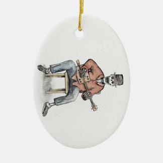 CBG Skeleton Ceramic Oval Decoration