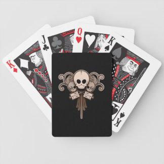 CBG Skulls n Swirls Bicycle Playing Cards