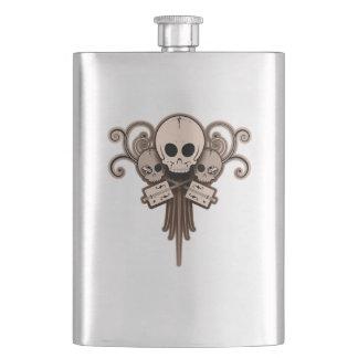 CBG Skulls 'n Swirls Hip Flasks