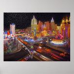 CBjork Las Vegas Art Impressionism Poster