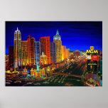 CBjork Las Vegas Cityscape Hotel Casinos Print