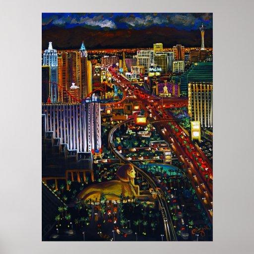 CBjork Las Vegas Cityscape Poster