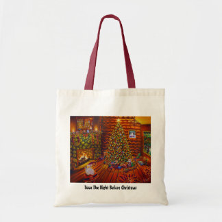 CBjork, Twas The Night Before Christmas Canvas Bags