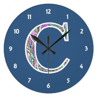 Cc Illuminated Monogram Clock
