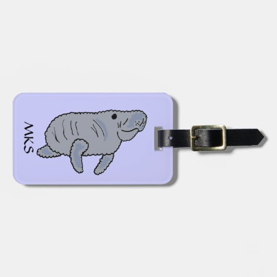 CC- Manatee Luggage Tag