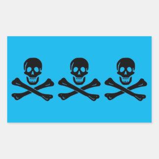 CC Pirate Flag Sticker (Black & Deep Sky Blue)
