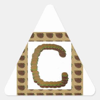 ccc ALPHA Alphabet design:  Identity ID Mark Triangle Stickers