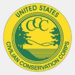 CCC Civilian Conservation Corps Commemorative Round Sticker