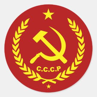 CCCP Communist Hammer and Sickle Badge Classic Round Sticker
