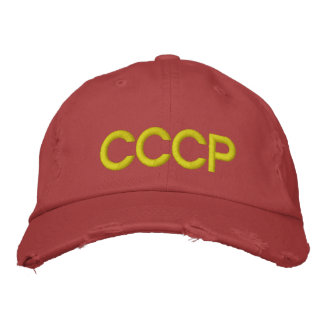 CCCP EMBROIDERED BASEBALL CAPS