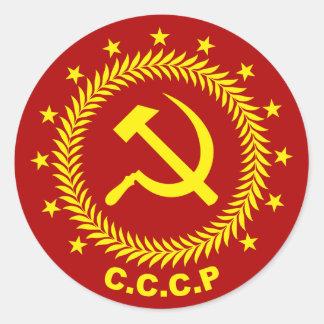 CCCP Hammer Sickle Emblem Classic Round Sticker