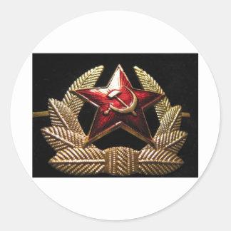 cccp russian officer sailor classic round sticker