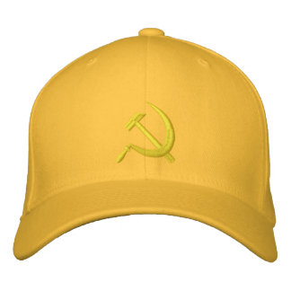 CCCP Soviet Sickle & Hammer Gold on Gold Hat Embroidered Baseball Caps