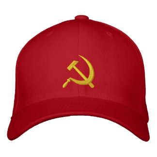 CCCP Soviet Sickle & Hammer Hat Embroidered Hats