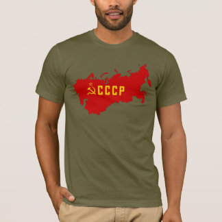 CCCP Soviet Union Map T-Shirt
