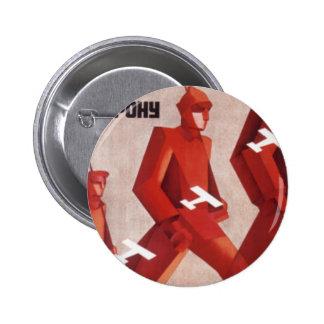 CCCP URSS propaganda poster button