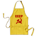 cccp ussr hammer and sickle aprons