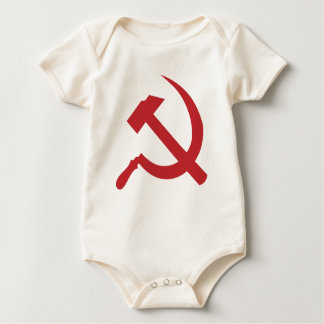 cccp ussr hammer and sickle baby bodysuit