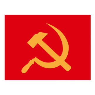 cccp ussr hammer and sickle postcards