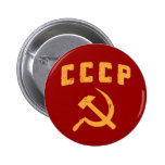 cccp vintage russian ussr hammer and sickle pinback button