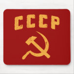 cccp vintage russian ussr hammer and sickle mousemats