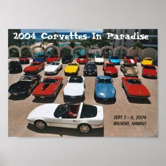 CCOH Corvettes In Paradise 2004 Print