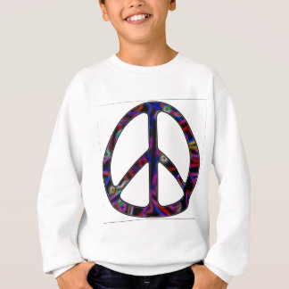 ccolorful peace sign sweatshirt