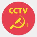 CCTV Flag Stickers