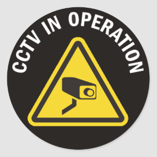 CCTV IN OPERATION ROUND STICKER